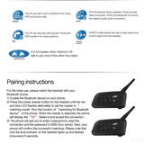 VNETPHONE Motorcycle Intercom Helmet Headset