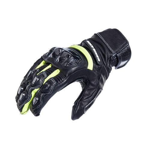 Leather Guantes Gloves Carbon Fibre Racing Gloves