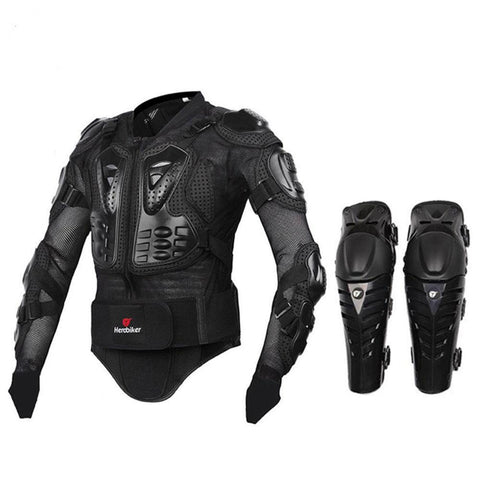 Body Armor Protective Jacket+ Knee Pad Kit Suits