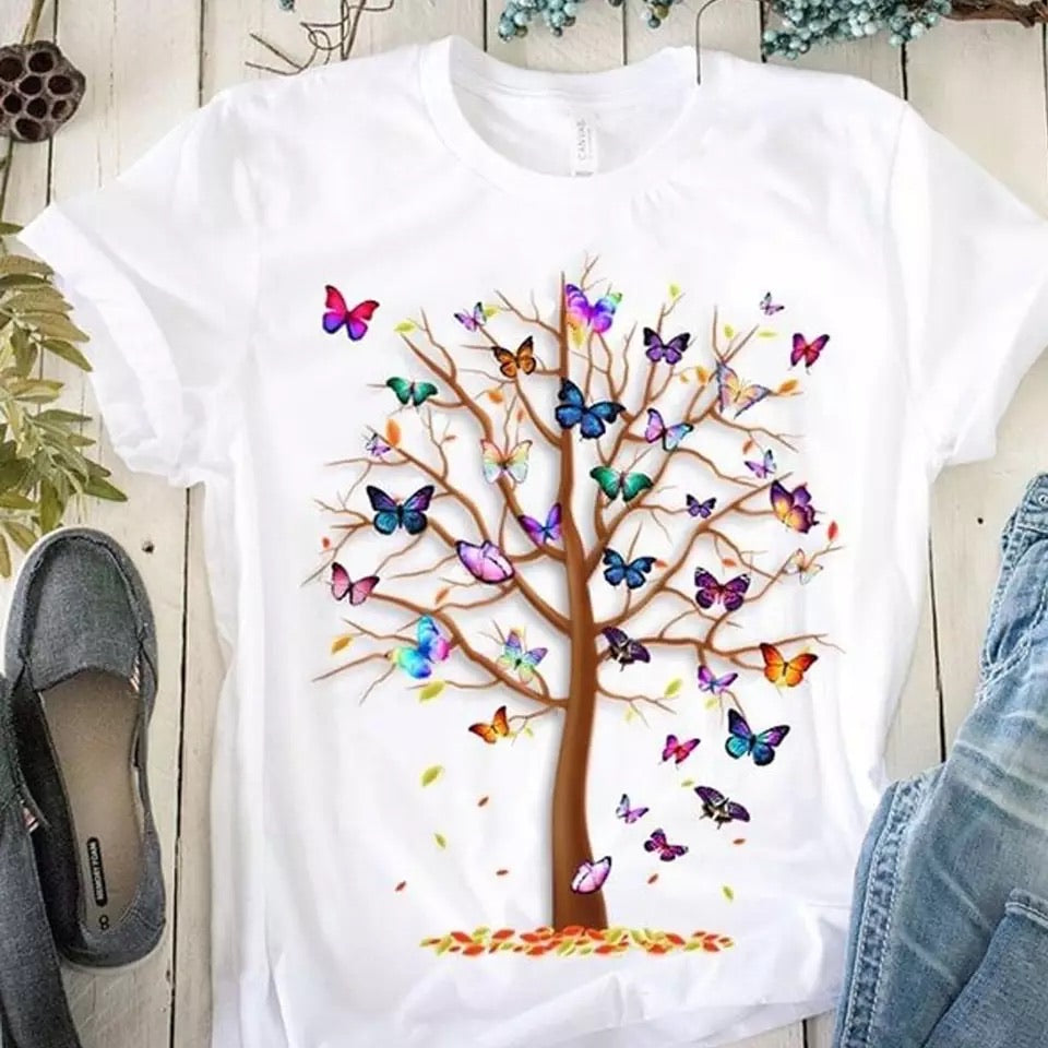 Tricou Butterfly Tree
