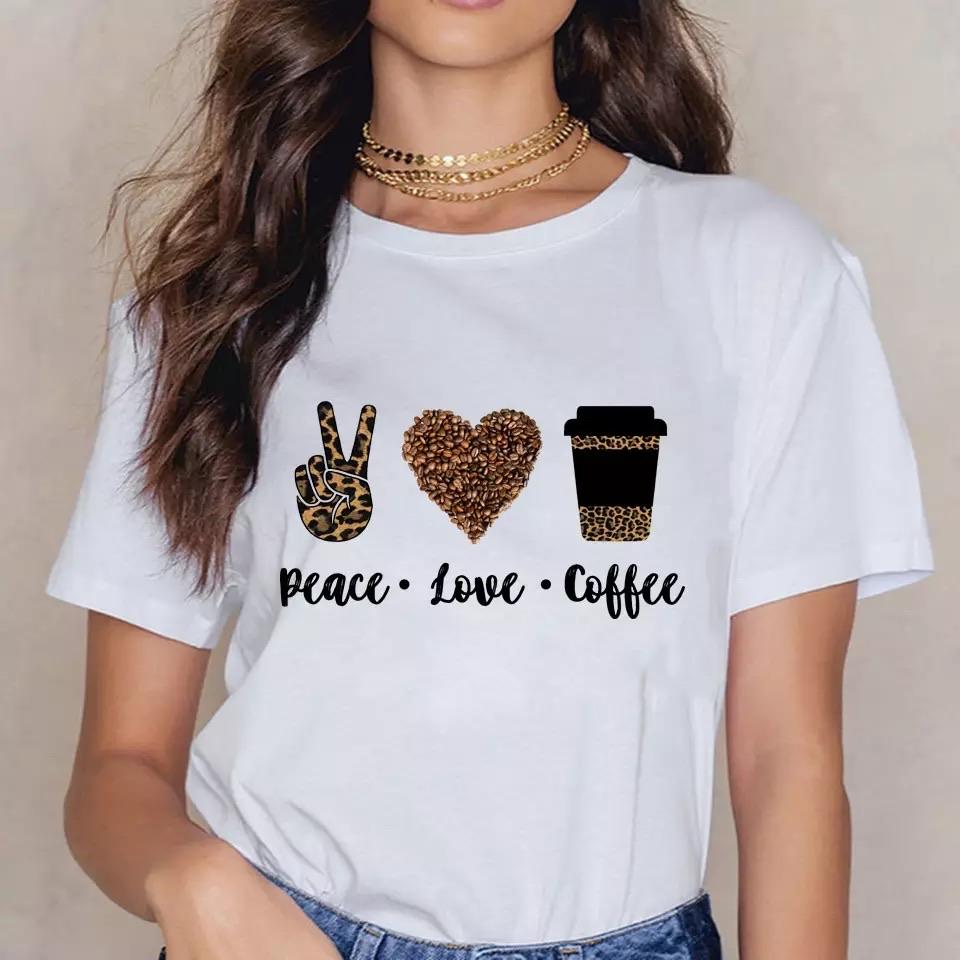 Tricou Peace Love Coffee