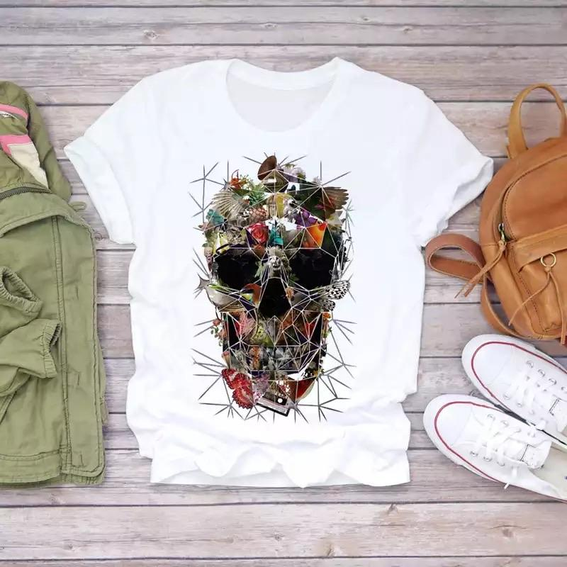Tricou Mix Color Skull