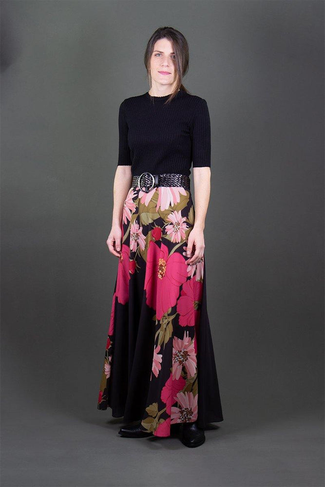 Maxi floral skirt - Laceboutique.gr