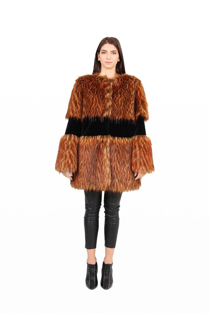 Παλτό Coat faux fur long - Laceboutique.gr