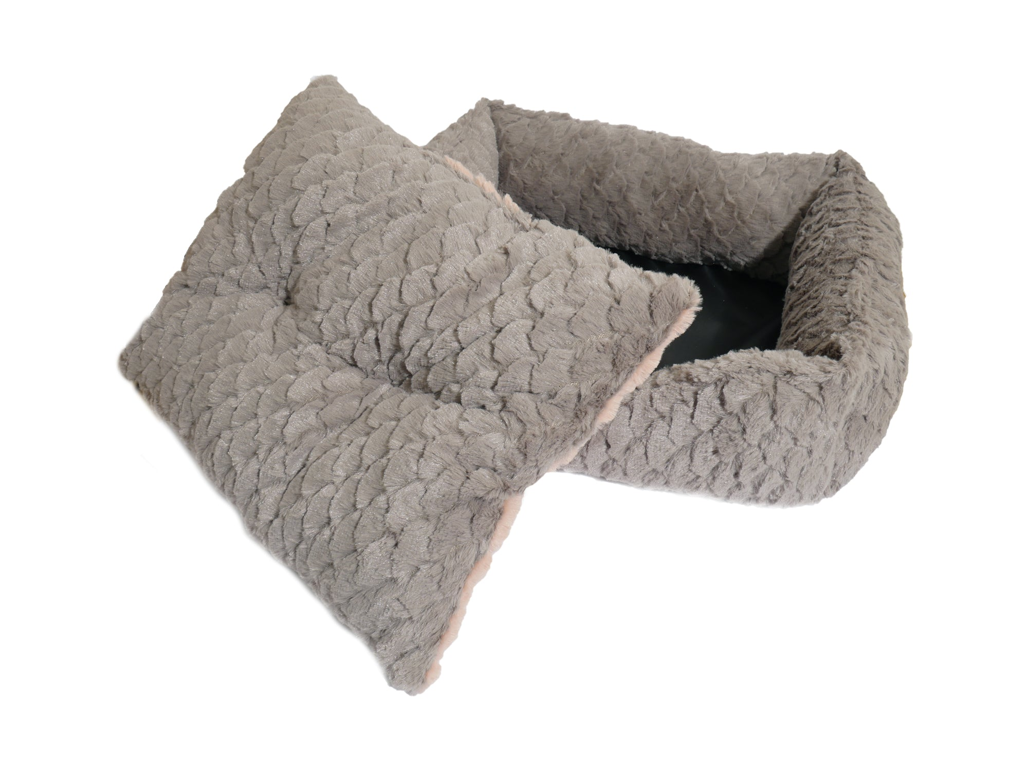 Super Plush Reversible Grey & Pink Cosy Dog Bed