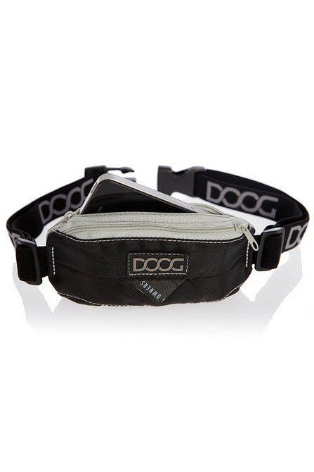DOOG Dog Walkers Mini Stretch Belt Bag Black