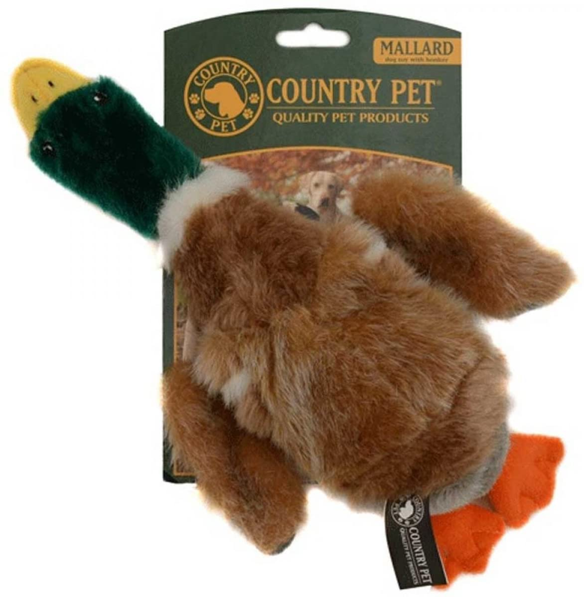 Country Pet Dog Toy - Mallard Duck Large