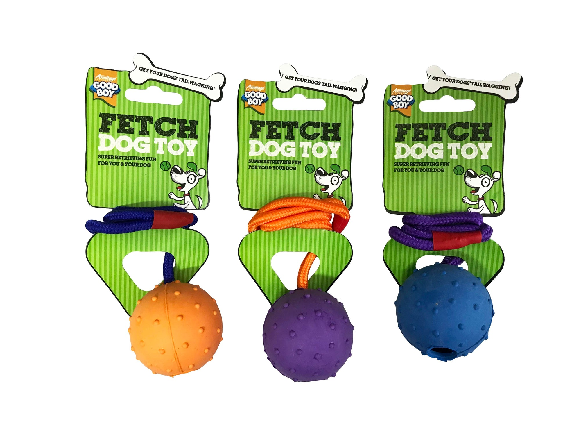 Good Boy Rubber Ball Rope Toy