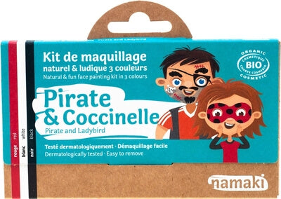 Truccabimbi - Make Up Bio 3 Colori Pirata e Coccinella