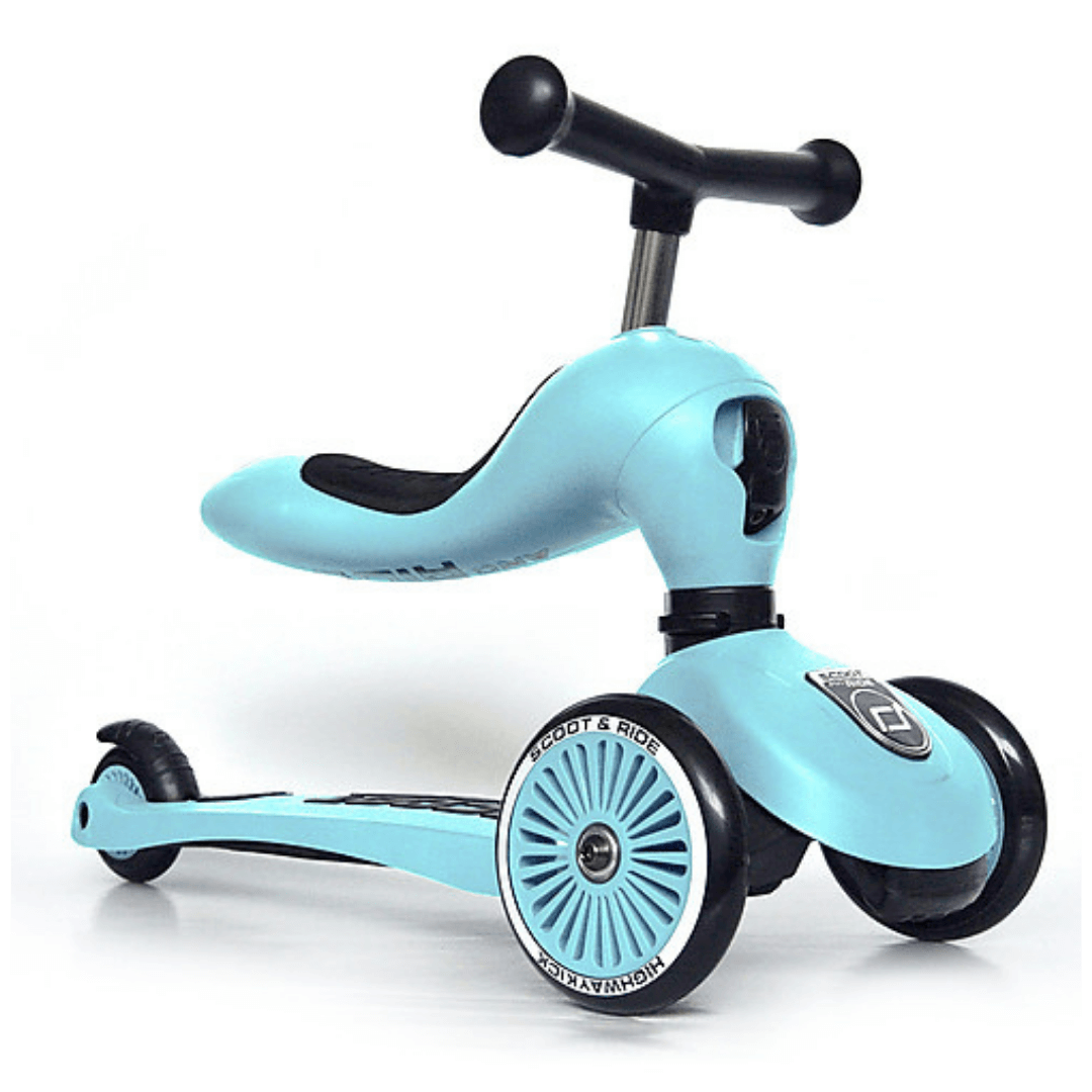 Triciclo Monopattino 2 in 1 Scoot and Ride Bici Senza Pedali - Azzurro
