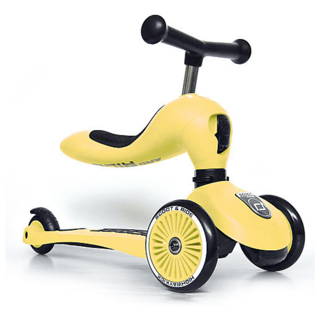 Triciclo Monopattino 2 in 1 Scoot and Ride Bici Senza Pedali - Giallo