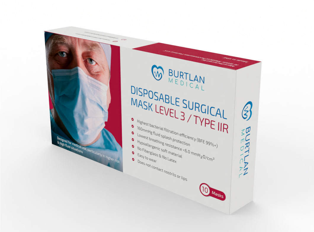 Surgical Masks Level 3 - Type IIR
