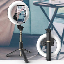 Load image into Gallery viewer, Wireless 4-in-1 Bluetooth Selfie Stick With LED Ring Light