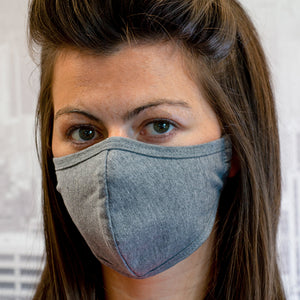 Grey Reusable Face Mask (x2)