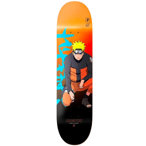 Primitive x Naruto Focus Skateboard Deck Orange 8.25""