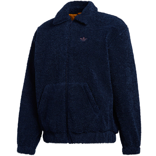 Adidas Fleece Track Top Jacket Navy