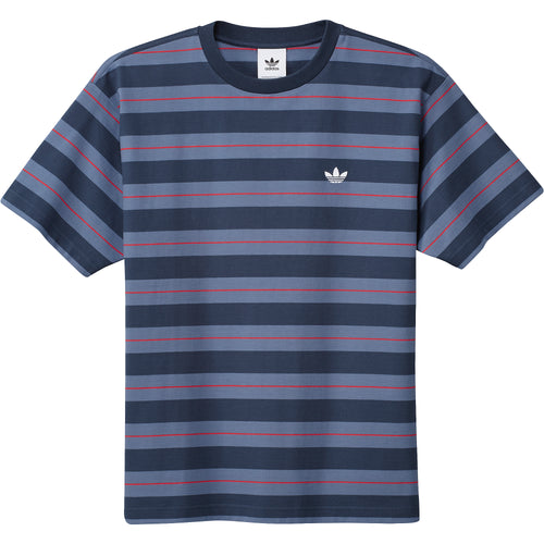 Adidas Yarn Dye T-Shirt Navy Blue Red