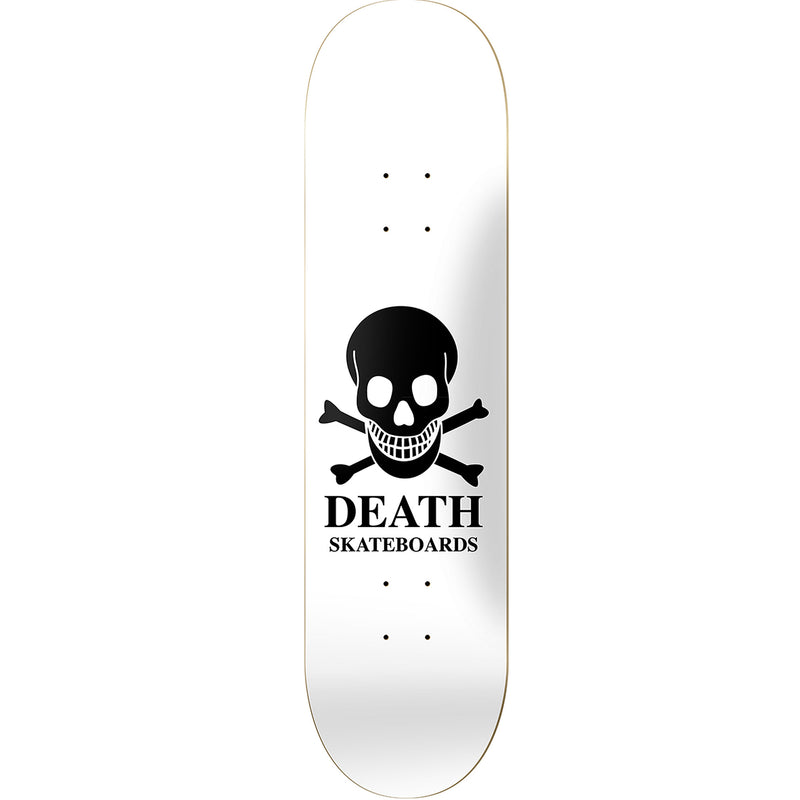 Death Skateboards OG Reverse Skull Deck White 8.00""