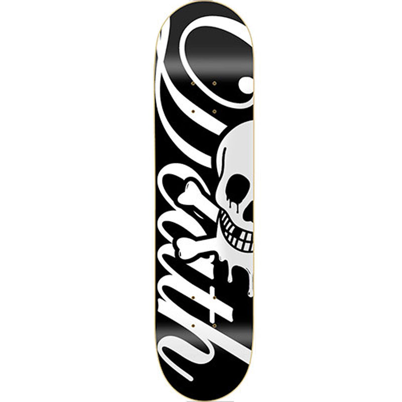 Death Skateboards Script Deck Black 8.00""