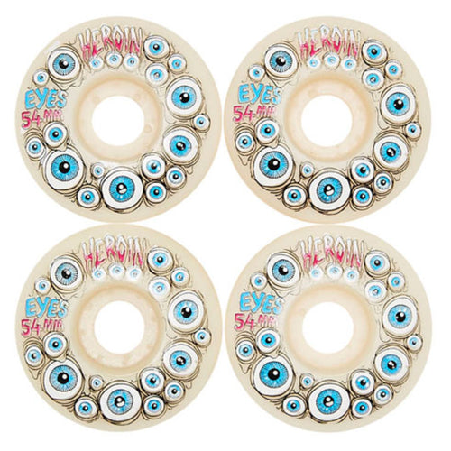 Heroin Skateboards Eyes Wheels Glow in the dark 54mm
