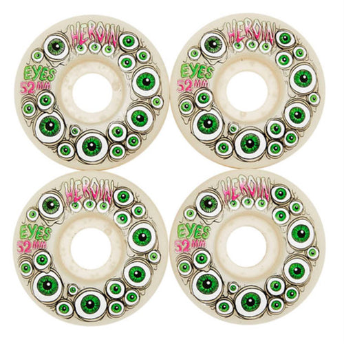 Heroin Skateboards Eyes Wheels Glow in the dark 52mm