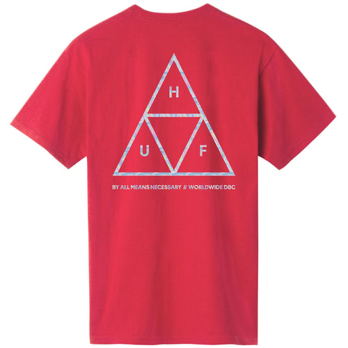 HUF Hologram Triple Triangle T-Shirt - Red