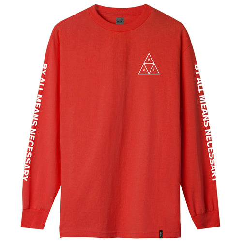 HUF Triple Triangle Long Sleeve T-Shirt Red