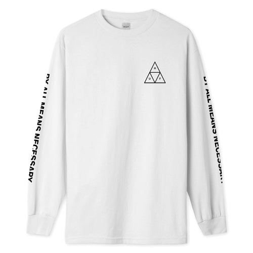 HUF Triple Triangle Long Sleeve T-Shirt White