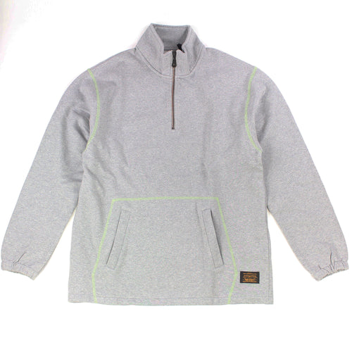 Levis Quarter Zip Sweater - Grey Heather