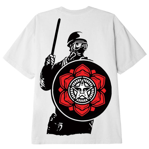 OBEY Riot Cop Peace Shield T-Shirt White