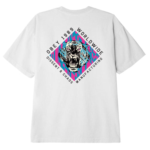 OBEY Dissent & Chaos Tiger T-Shirt White