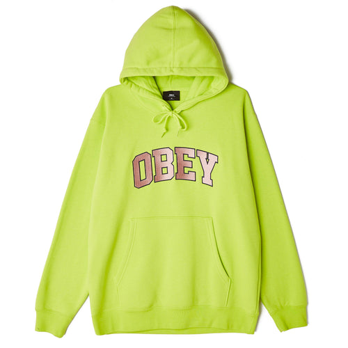 OBEY Wyatt Pullover Hoodie Lime Punch