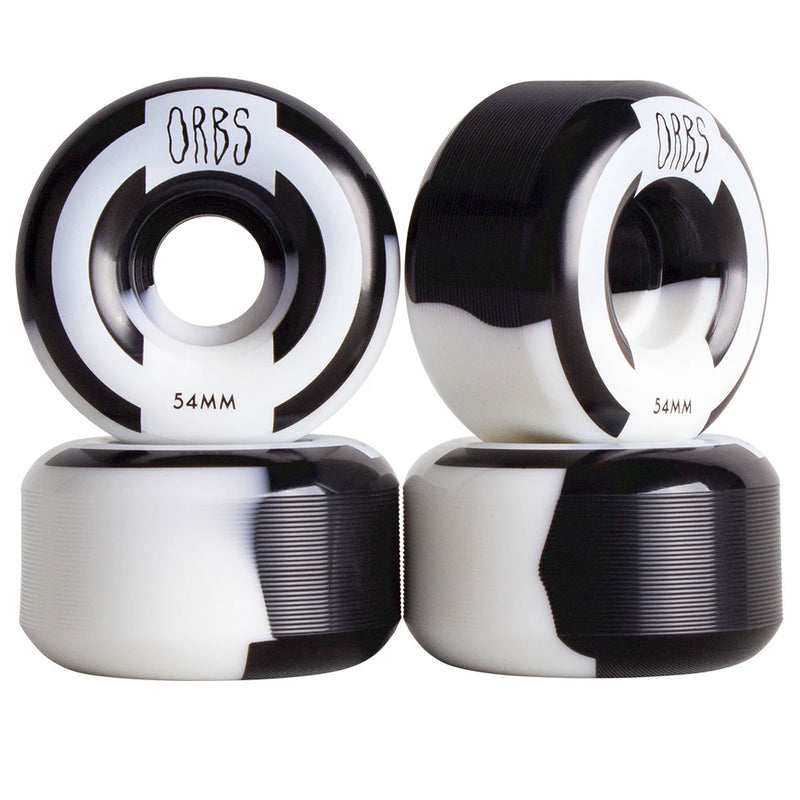 Orbs Apparitions Splits Skateboard Wheels 54mm Black White