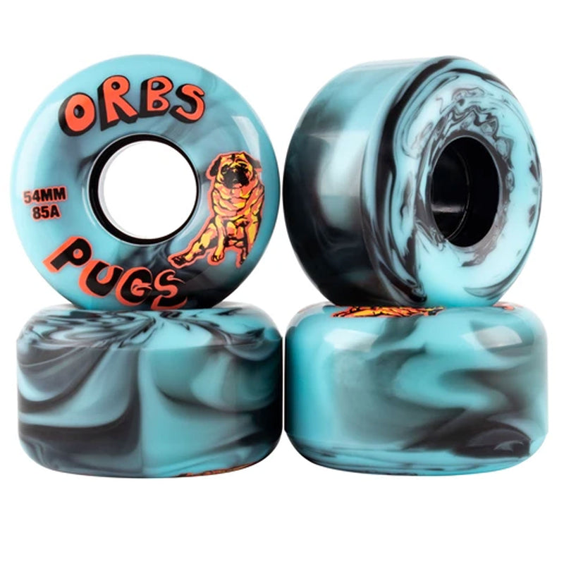 Orbs Pugs Skateboarding Wheels 54mm Blue