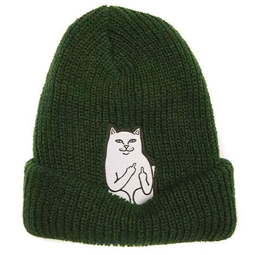 Ripndip Lord Nermal Ribbed Beanie Hunter Green