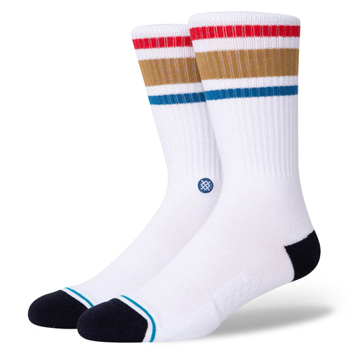 Stance Boyd Staple Socks White Brown
