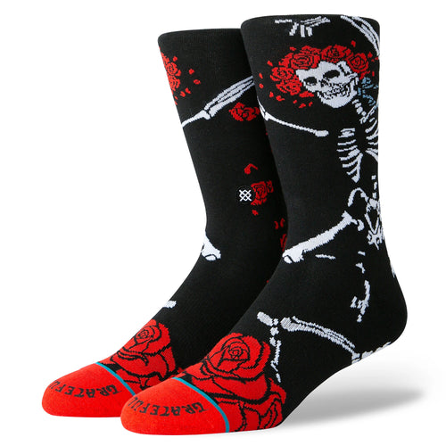 Stance Dead Head Socks Black