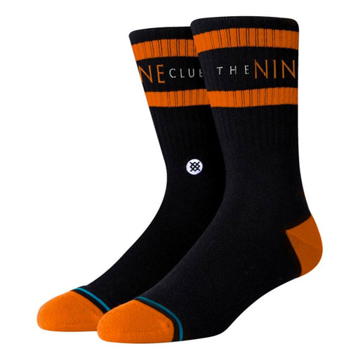 Stance Nine Club Socks Black Orange