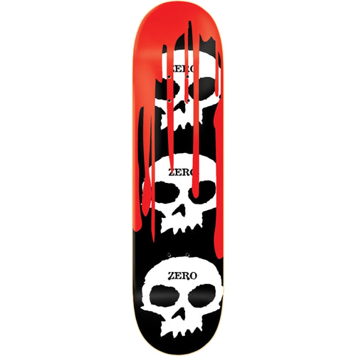 Zero Skateboards 3 Skull Blood Deck Black 8.5""