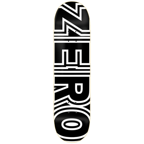 Zero Skateboards Bold Deck Black 8.25""