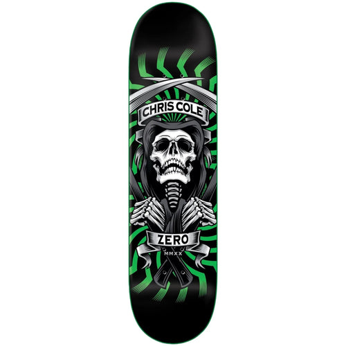 Zero Skateboards MMXX Cole Deck Green 8.00""