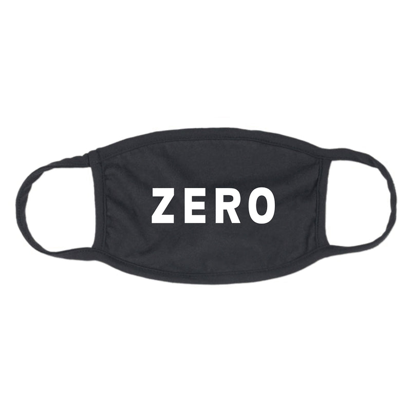 Zero Logo Face Mask Black