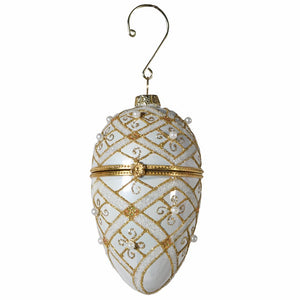 Gold Bead Faberge Bauble