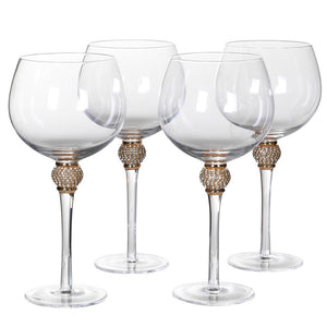 Gold Diamante Gin Glasses