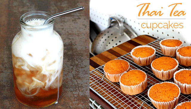 Appetizing Thai Tea Cupakes