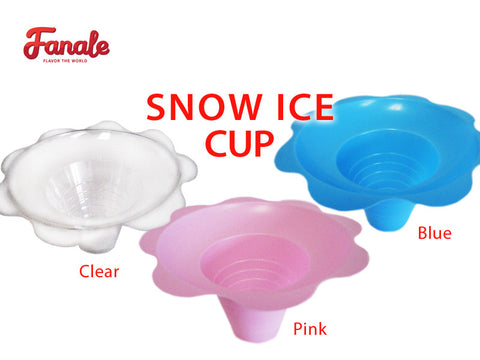 Flower Shaved Snow Ice Cups (Clear, Pink, Blue) - Fanale