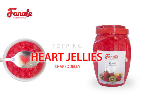 Strawberry Heart Shaped Jelly - Fanale