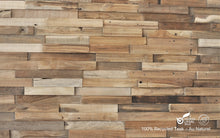 Load image into Gallery viewer, Recycled 3D Teakwood Wall Panels - Au Naturel (Available in Cases or as a Sample)
