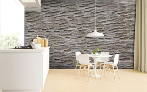 Recycled 3D Teakwood Wall Panels - Graphite (Available in Cases or as a Sample)