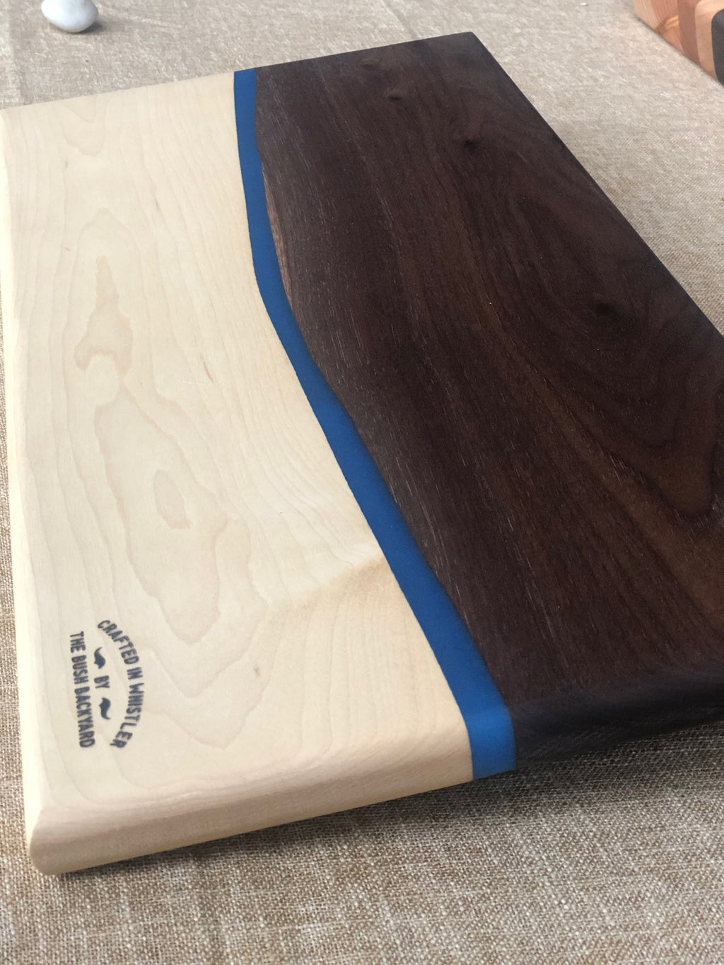 Walnut and Maple Ecopoxy Charcuterie board